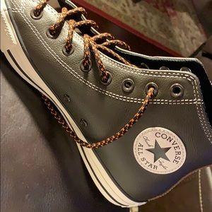 converce leather brown men's shoes